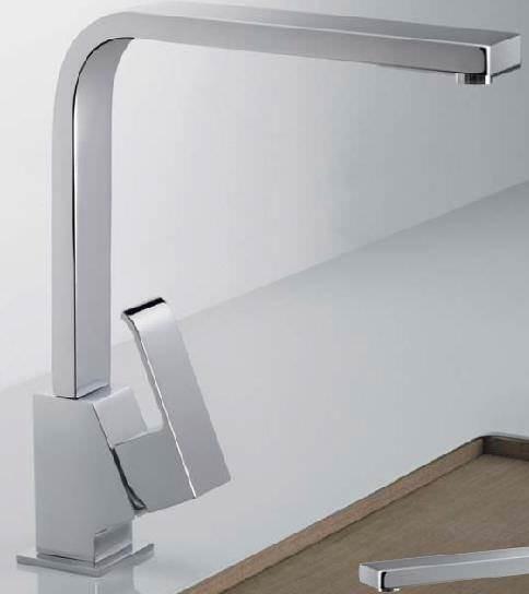 TRES Cuadro Küchenarmatur in Chrom oder Stahl